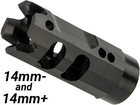 Retro Arms CNC Machined Aluminum Muzzle Brake for Airsoft Barrels