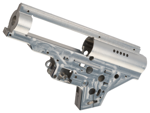 Retro Arms CZ Billet CNC 9mm QSC Gearbox Shell for SR25  Series Airsoft AEG Rifles (Color: Silver)