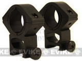 "AIM Sports Real Steel 30mm QD Weaver Scope See thru with 1"" insert Ring Set (Medium Height)"