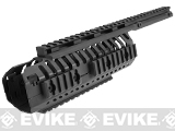 Pre-Order Estimated Arrival: 08/2013 --- CQB Master CNC CASV Rails System for M4 series Airsoft Rifles - Black