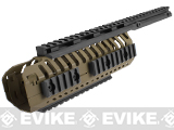 Pre-Order Estimated Arrival: 08/2013 --- CQB Master CNC CASV Rails System for M4 series Airsoft Rifles - Dark Earth