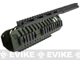 CQB Master CNC CASV Rails System for M4 series Airsoft Rifles - OD Green