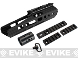 APS 8 Guardian RIS Handguard Set for M4 / M16 Series Airsoft AEG Rifles - Black