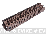 Madbull Daniel Defense MK18  M4A1 RIS II Airsoft CNC Aluminum RIS (Color: Dark Earth)