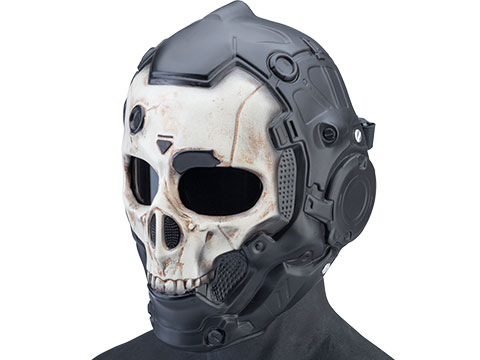 Evike.com R-Custom Fiberglass Cyber Skull Full Face Mask (Color: Normal / Smoke Lens)