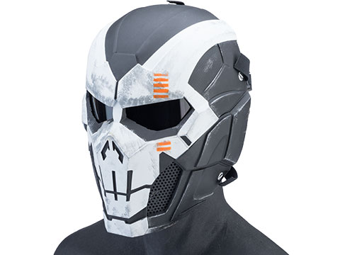 Evike.com R-Custom Fiberglass Iron Punisher Full Face Mask (Color: Skull / Medium / Smoke Lens)