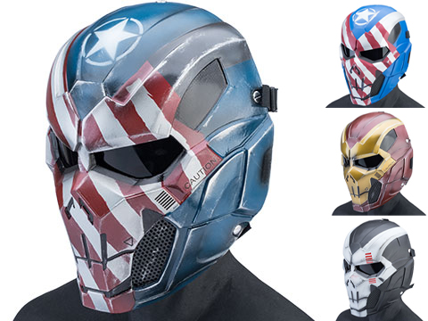 Evike.com R-Custom Fiberglass Iron Punisher Full Face Mask (Color: Skull / Large / Smoke Lens)