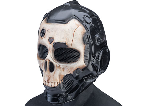 Evike.com R-Custom Fiberglass Cyber Skull Full Face Mask (Color: Normal / Mesh Lens / Large)