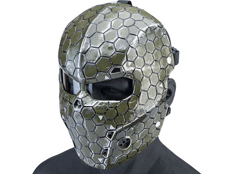 Evike.com R-Custom Fiberglass Hive Full Face Mask (Color: OD Green / Medium / Clear Lens)