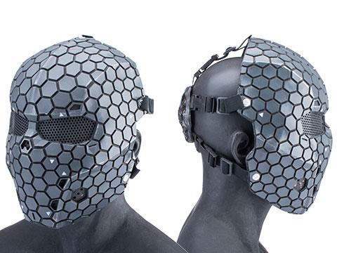 Evike.com R-Custom Fiberglass Hive Full Face Mask (Color: Black / Medium / Mesh Lens)