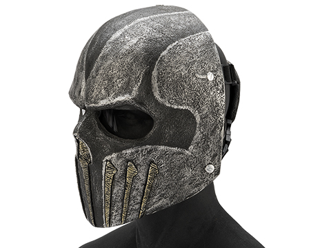 Evike.com R-Custom Fiberglass  Wraith Full Face Mask with Grey Lens (Color: Black / Grey)