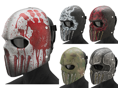 Evike.com R-Custom Fiberglass  Wraith Full Face Mask with Grey Lens