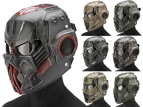 Evike.com R-Custom Fiberglass  Hellghast Full Face Mask with Clear Lens