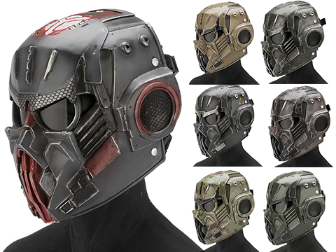 Evike.com R-Custom Fiberglass  Hellghast Full Face Mask with Grey Lens