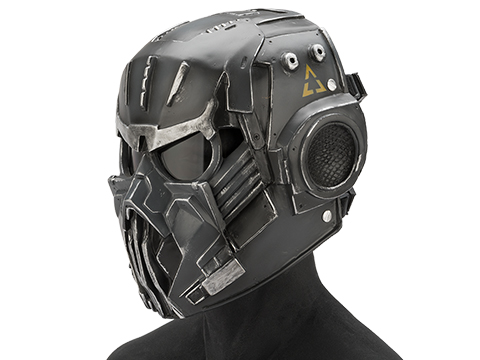 Evike.com R-Custom Fiberglass  Hellghast Full Face Mask with Grey Lens (Color: Matte Grey)