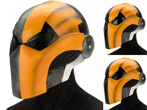 Evike.com R-Custom DeathStroke Injustice Fiberglass Mask (Color: Grey/Orange / Mesh)