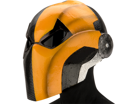 Evike.com R-Custom DeathStroke Injustice Fiberglass Mask (Color: Grey/Orange / Grey Lens)