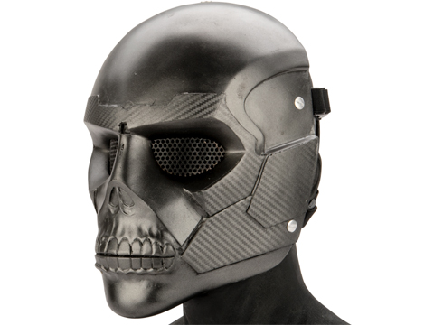 Evike.com R-Custom Luden Fiberglass Mask (Color: Carbon Fiber / Wire Mesh)