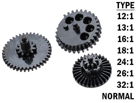 Rocket Airsoft CNC Steel Gear Set for Tokyo Marui Spec Airsoft AEG Gearboxes (Type: 13:1 High Speed)