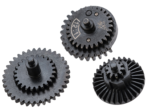 Rocket Airsoft CNC Steel Gear Set for Tokyo Marui Spec Airsoft AEG Gearboxes (Type: 12:1 High Speed)