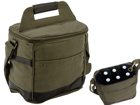 Rothco Insulated Canvas Cooler Bag (Color: OD Green)