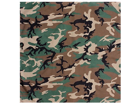 Rothco Military Tactical Combat Bandana (Color: Woodland Camo)