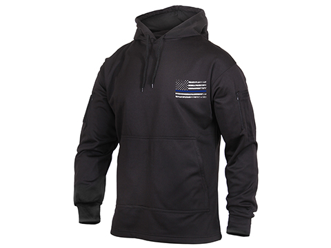 Rothco Thin Blue Line Concealed Carry Hoodie - Black (Size: Medium)