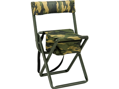 Rothco Deluxe Camping Stool with Pouch (Color: Woodland)