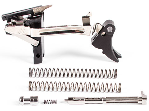 ZEV Technologies Fulcrum Adjustable 2-6 lbs Ultimate Drop in Trigger Kit (Model: GLOCK 9mm Gen 1-3 / Black - Black Safety)