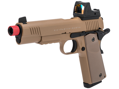 Secutor Arms Rudis Magna Series 1911 Gas Blowback Airsoft Pistol (Model: Model VII / Tan)