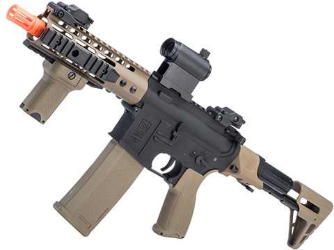Specna Arms EDGE Series M4 AEG w/ Keymod Handguard (Model: M4 PDW / 2-Tone Black and Tan SA-E12)