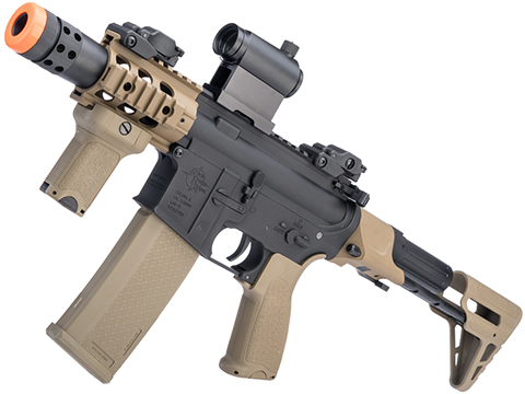 Specna Arms / Rock River Arms Licensed EDGE Series M4 AEG (Model: M4 PDW / 2-Tone Black and Tan SA-E10 / PDW Stock)