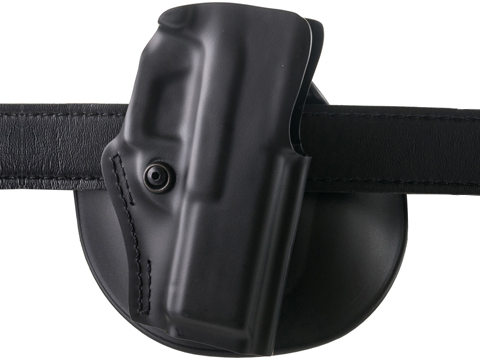 Safariland 5198 Open Top Paddle & Belt Slide w/ Detent Holster (Model: S&W J Frame / STX 2 Belt / Plain Black / Right Hand)