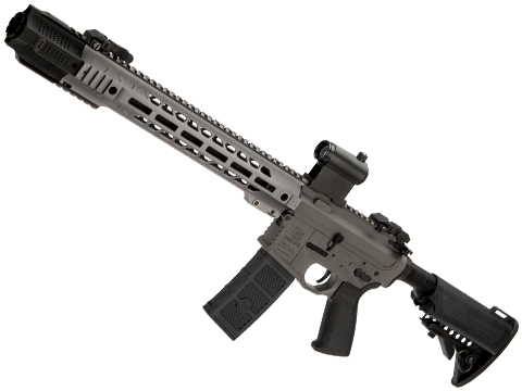 EMG / SAI GRY AR-15 AEG Training Rifle w/ JailBrake Muzzle w/ GATE ASTER Programmable MOSFET (Configuration: Carbine / Grey Non-ITAR)