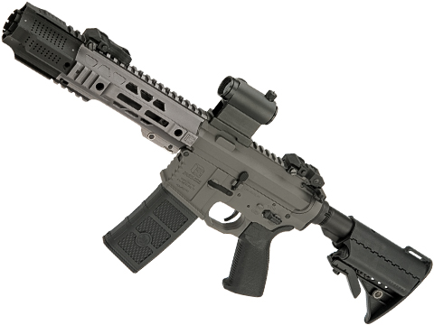 EMG / SAI Licensed GRY AR-15 AEG Training Rifle w/ JailBrake Muzzle w/ GATE ASTER Programmable MOSFET (Configuration: CQB / Grey Non-ITAR)
