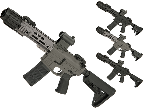 EMG SAI Licensed GRY SBR AR-15 / M4 AEG Training Rifle w/ i5 Gearbox