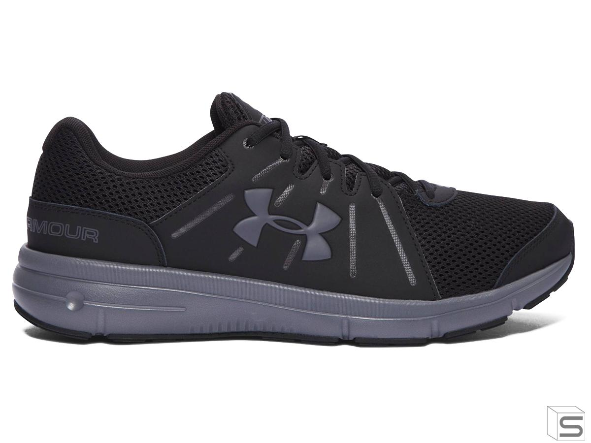 meet 030c5 201ce Under Armour Dash RN 2 Running Shoe - Black / Grey (Size ...