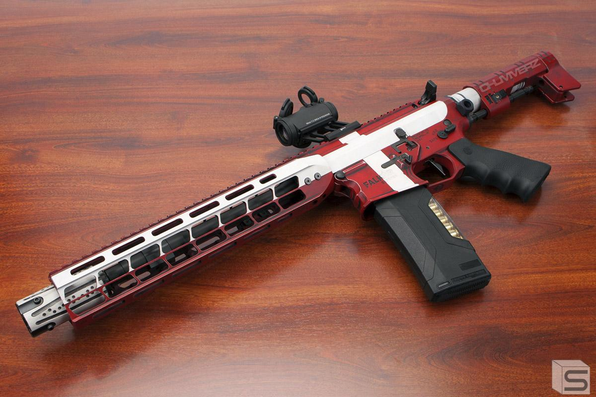 EMG Custom Cerakote Falkor AR-15 Blitz SBR Training Weapon