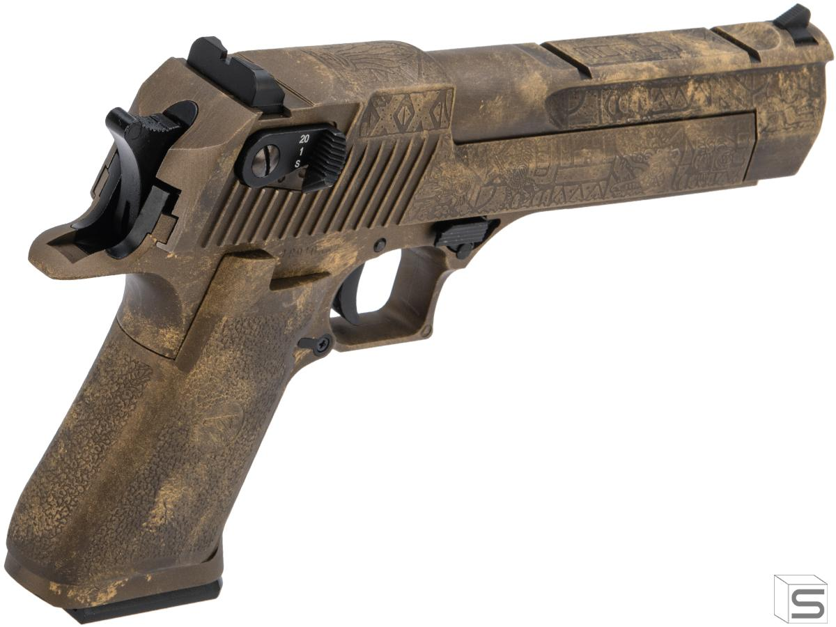 Magnum Research Licensed Semi Full Auto Metal Desert Eagle Co2 Gas Blowback Airsoft Pistol By Kwc W Black Sheep Arms Custom Cerakote Color Aztec Pro Shop Salient Arms