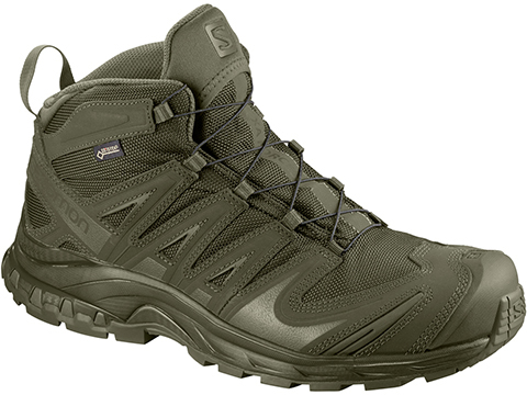 Salomon XA Pro 3D MID GTX® Forces 2 Tactical Boots (Color: Ranger Green / Size 10)