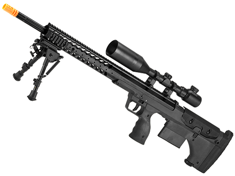 Desert Tech SRS-A1 26 Gen3 Pull Bolt Action Bullpup Sniper Rifle by Silverback Airsoft (Color: Black / Right-Handed)