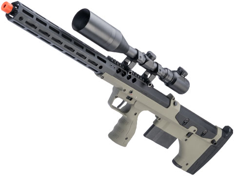 Desert Tech SRS-A2 22 Covert Pull Bolt Action Bullpup Sniper Rifle by Silverback Airsoft (Color: OD Green / Right-Handed)
