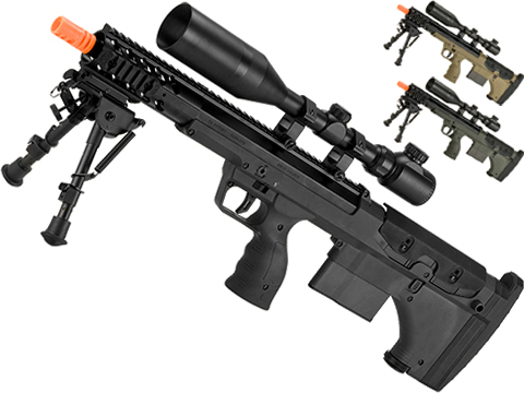 Desert Tech SRS-A1 16 Covert Gen3 Pull Bolt Action Bullpup Sniper Rifle by Silverback Airsoft