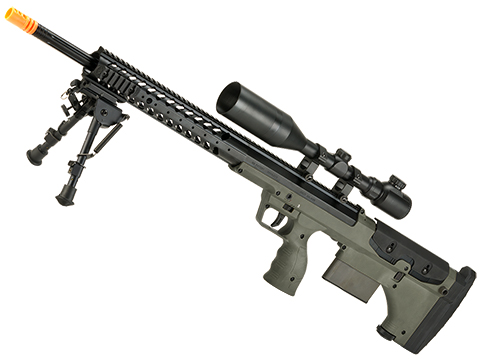Desert Tech SRS-A1 26 Gen3 Pull Bolt Action Bullpup Sniper Rifle by Silverback Airsoft (Color: OD Green / Right-Handed)