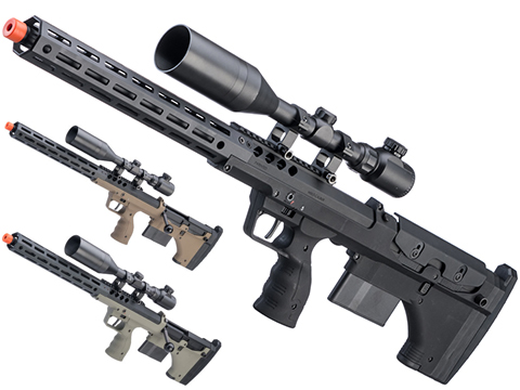 Desert Tech SRS-A2 22 Covert Pull Bolt Action Bullpup Sniper Rifle by Silverback Airsoft (Color: Black / Right-Handed)