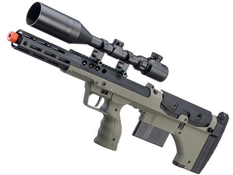 Desert Tech SRS-A2 16 Covert Pull Bolt Action Bullpup Sniper Rifle by Silverback Airsoft (Color: OD Green / Right-Handed)