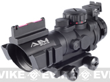 (July 4th EPIC SALE!) AIM Dual-Rail 4x32 Illuminated Compact Scope with Fiber Optics Sight / Rapid Ranging Reticle