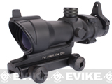 Matrix 4x32 Rifle Scope with Integrated Iron Sight & Weaver Mount