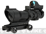 Matrix Bravo OP Style 4x32 Magnified Scope w/ Red Dot Reflex Sight For Airsoft