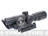 AIM Sports 1.5-5x32 Dual Illuminated Tactical Scope w/ Green Laser